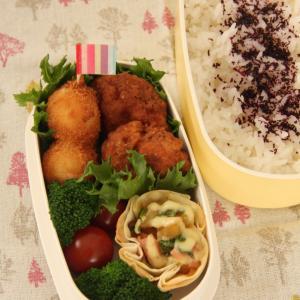 お弁当 No.625 チキンナゲット&うずら卵のフライ弁当