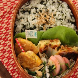 お弁当 No.630  ささみのピカタ&お好み焼き弁当