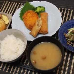 お夕飯 No.91 ツナとチーズと大葉の春巻き