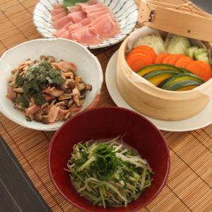 お夕飯 No.93 蒸し野菜&生ハム