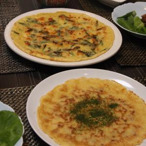 お夕飯 No.95 チヂミ&鶏の照り煮