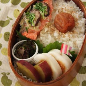 お弁当 No.688 蒸し鮭&さつま芋のバター醤油煮弁当