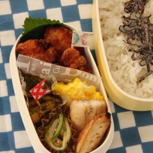 お弁当 No.693 鶏の唐揚げ&ほっけの塩焼き弁当