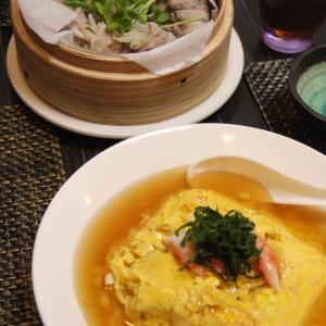 お夕飯 No.139 豚バラとスモークサーモンのもやし蒸し&きゅうりの和え物