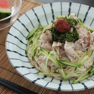 お昼ご飯 No.11 梅冷しゃぶ素麺
