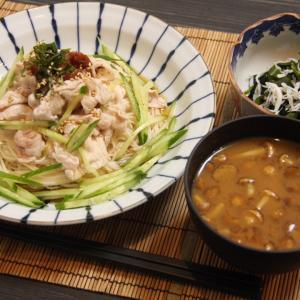 お夕飯 No.151 梅冷しゃぶ素麺
