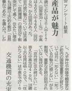 町総合計画審議会アンケート結果 町民 自然や特産品が魅力─京都新聞 丹波版より