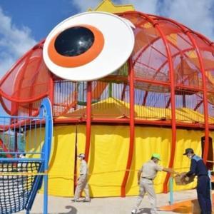 山口県防府市に防災公園 大型遊具が避難所に 100人収容 炊き出しも─西日本新聞より