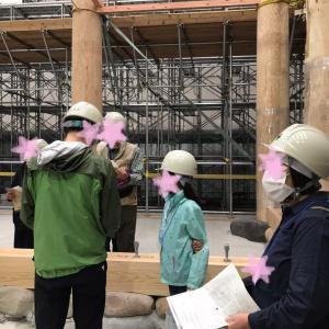 多賀城南門復元の現場説明会へ
