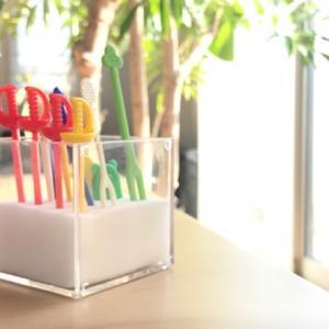 【収納】お弁当ピックの簡単収納、長年使っていてストレスフリーな方法は!☆