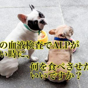 犬の血液検査でALPが高い時に何を食べさせたらいいですか?