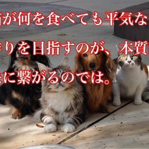 犬猫が何を食べても平気な体作りを目指すのが、本質的な解決に繋がるのでは。