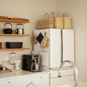キッチン × かごバッグ。