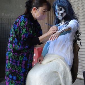 深川美楽市大道芸でコラボパフォーマンス!- ライブペイント編