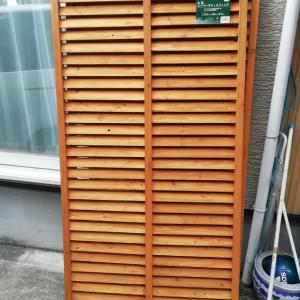 お庭のフェンス交換