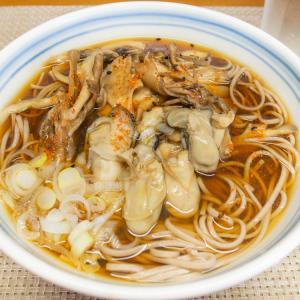 牡蠣と舞茸の蕎麦