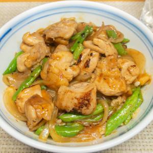 鶏肉といんげんの生姜焼き丼