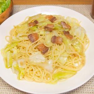 塩豚とキャベツの生姜パスタ