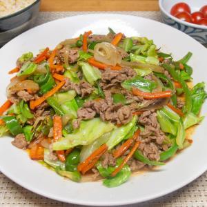 ラムの肉野菜炒め