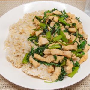 空芯菜のガパオ炒めライス
