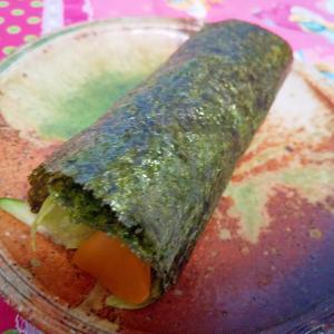 つぼ漬で手巻き寿司