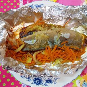 鯖のホイル焼き