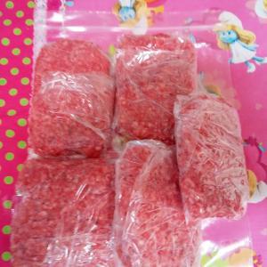 挽き肉の冷凍保存