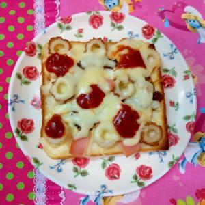 ゴーヤとハムのピザトースト