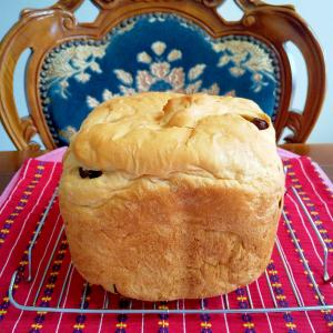 HBで酒粕レーズン食パン