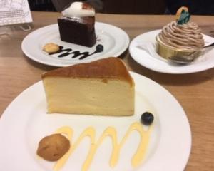 御菓子処花岡長野店でチーズケーキ!☆ボランティアの留学生、ロクちゃん感想 (*^-^*)