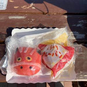 紐鶏頭 〜 赤べこパン  あだたらサービスエリア