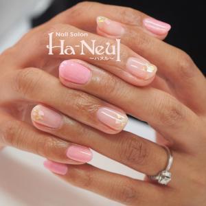 °˖✧艶やかピンクの夏シェルネイル✧˖°