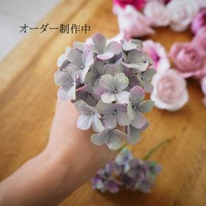 シャビーな紫陽花。購入するより作った方が早い?!