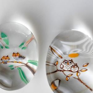 OWL (45) 小樽硝子の箸置き(硝子)