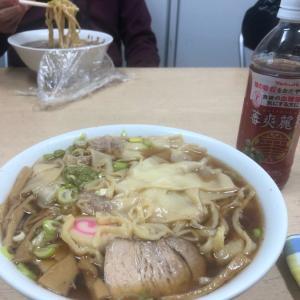 今日のランチ いさみのワンタン麺^_^