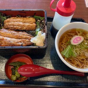 今日のランチ まるまつのイワシの唐揚げ丼セット^_^