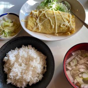 今日のランチ 六三亭の納豆オムレツ定食