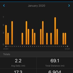 2020年1月の走行距離
