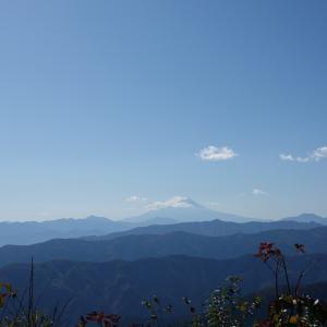 秋晴れの大岳山。