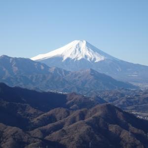 秀麗富嶽十二景 滝子山、本社ヶ丸&清八山。