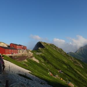 初めての一人山小屋泊、北アルプス唐松岳。