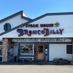 「ブロンコビリー 西枇杷島店」の炭焼きチキンステーキとビリーハンバーグランチ @清須市西枇杷島