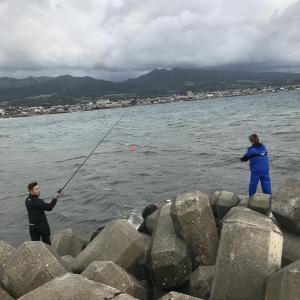 鮭釣り北海道