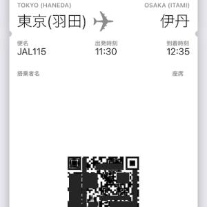 【JAL】Passbookで搭乗できるんですね