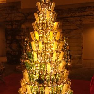 クリスマスツリーは〜ワインの瓶