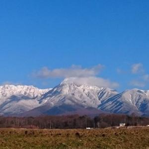 八ヶ岳が真っ白になったよ!