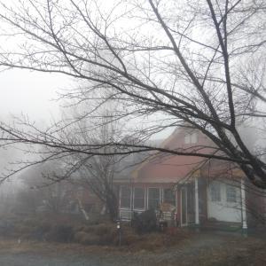 すっぽり雲の中の原村〜何も見えない!
