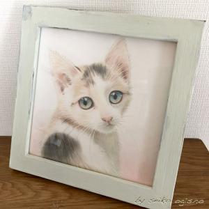 猫の絵の為のフレーム