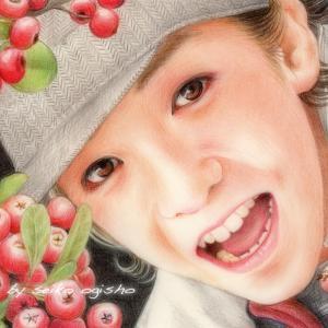 赤い実と慶太くん