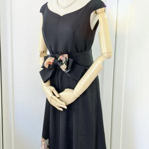 【お客様の声】リボンベルトがアクセント♡御所車が美しい黒留袖ドレス♡